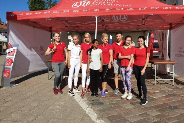 LSU physiotherapists in Kaunas marathon